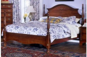 Carolina Classic Cherry Queen Poster Bed