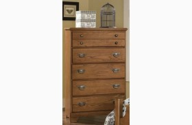 Creek Side Autumn Oak 5 Drawer Chest