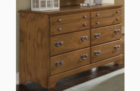 Creek Side Autumn Oak Double Dresser