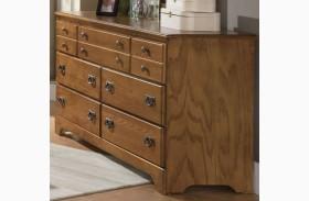 Creek Side Autumn Oak Triple Dresser