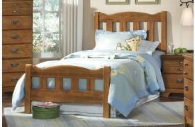 Creek Side Autumn Oak Twin Splat Bed