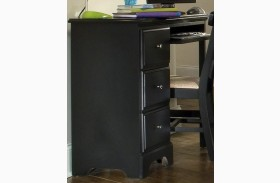 Midnight Black 3 Drawer Desk