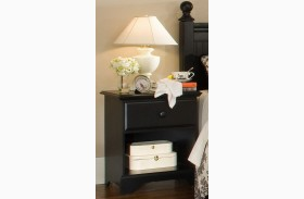 Midnight Black 1 Drawer Nightstand