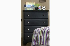 Midnight Black 4 Drawer Chest