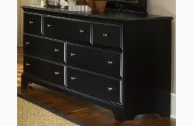 Midnight Black 7 Drawer Triple Dresser