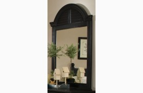 Midnight Black Vertical Cottage Mirror