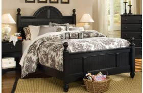 Midnight Black Queen Cottage Poster Bed