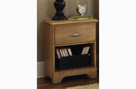 Sterling Clear Oak 1 Drawer Nightstand