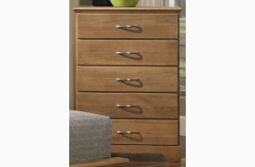 Sterling Clear Oak 5 Drawer Chest