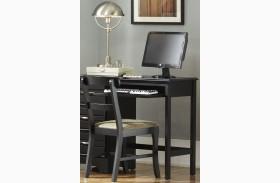 Platinum Black 3 Drawer Computer Desk