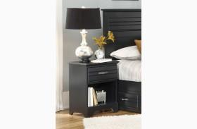 Platinum Black 1 Drawer Nightstand