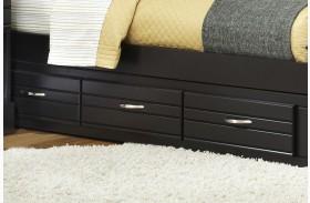 Platinum Black Twin/Full 3 Drawer Storage Unit