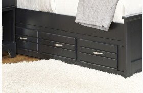 Platinum Black Queen/King 3 Drawer Storage Unit