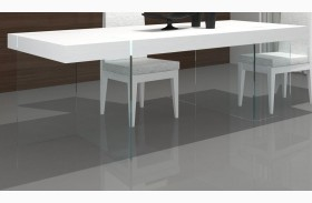 Cloud High Gloss Modern Rectangular Dining Table