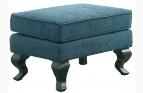 Willow Teal Accent Ottoman