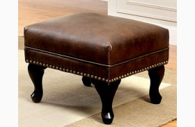 Vaugh Rustic Brown Ottoman