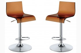 Trixy Brown High Back Bar Chair Set Of 2