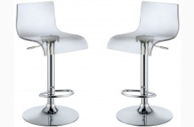 Trixy Clear High Back Bar Chair Set Of 2