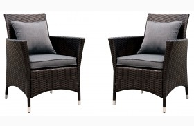 Leodore Gray Fabric Arm Chair Set Of 2