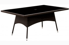 Leodore Espresso Patio Dining Table