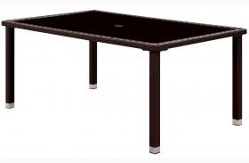 Comidore Espresso Patio Dining Table