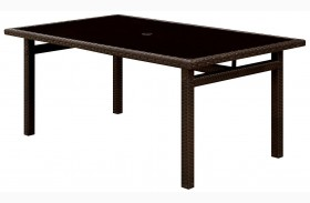 Shakira Espresso Patio Dining Table