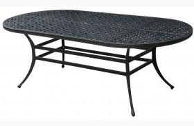 Chiara I Dark Gray Oval Patio Dining Table