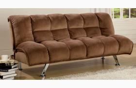 Marbelle Mocha Champion Fabric Futon Sofa