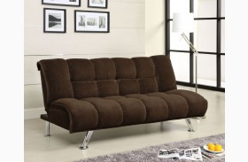 Maybelle Corduroy Futon Chocolate Sofa