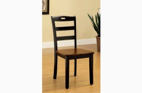 Johnstown Antique Oak and Black Side Chair Set of 2