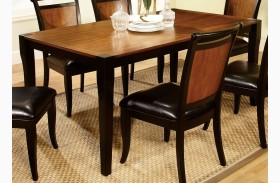 Salida I Acacia Rectangular Leg Dining Table