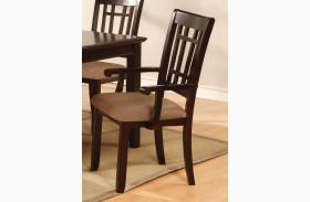 Central Park I Dark Cherry Arm Chair Set of 2