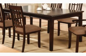 Central Park I Dark Cherry Rectangular Leg Dining Table