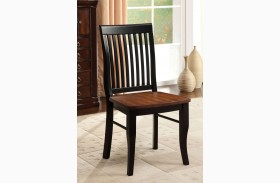 Earlham Antique Oak and Black Side Chair Set of 2