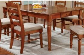 Spring Creek American Oak Rectangular Extendable Leg Dining Table