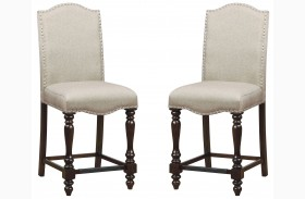 Hurdsfield II Antique Cherry Counter Height Chair Set Of 2