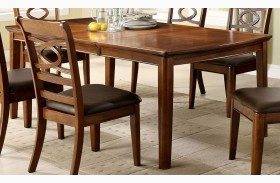 Carlton Brown Cherry Rectangular Extendable Leg Dining Table