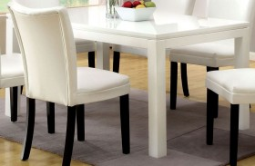Lamia I High Gloss White Rectangular Leg Dining Table