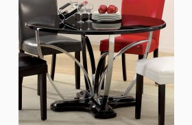 Belliz Black Round Pedestal Dining Table