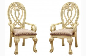 Wyndmere White Arm Chair Set of 2