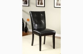 Boulder I Black Leatherette Parson Chair Set of 2