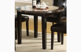 Atlas III Faux Marble Top Round Leg Dining Table