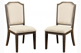 Haylee Beige Upholstered Side Chair Set Of 2