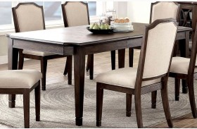 Haylee Wire Brushed Brown Extendable Rectangular Dining Table