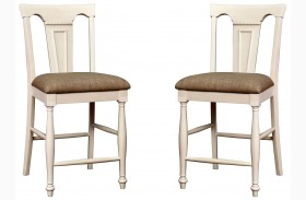 Sabrina Cherry & White Counter Height Chair Set Of 2