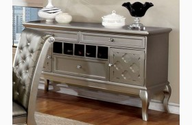 Amina Silver 3 Drawer Server