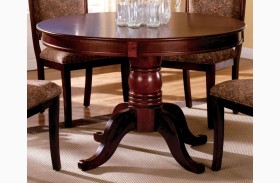 St. Nicholas II Antique Cherry Round Pedestal Dining Table