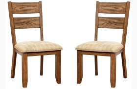 Ava Light Oak Side Chair Set Of 2