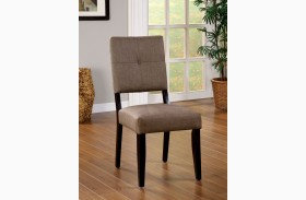 Bay Side I Espresso Fabric Side Chair Set of 2