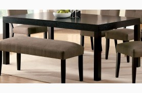 Bay Side I Espresso Rectangular Leg Dining Table